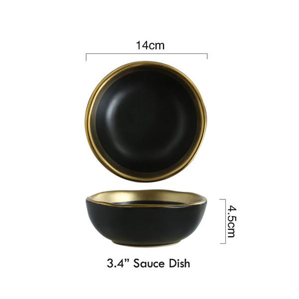 3.4 بوصة طبق - أسود