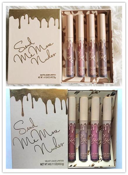 Kylie Jenner Vacation Edition lip kit 4pc/set lipstick Matte & Velvet Liquid Lipstick 4 colors/set cosmetics matte lipstick makeup