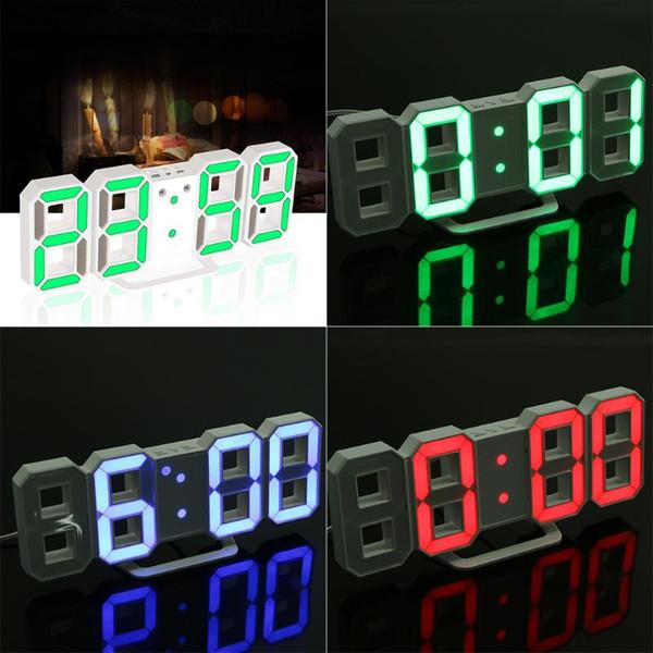 Original Modern Wall Clock Digital LED Table Clock Watches 24 or 12-Hour Display clock LED Night Light