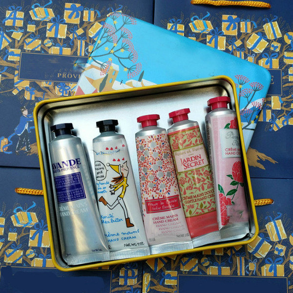 best selling Famous Brand For Christmas EN PROVENCE hand cream suit with 5 pieces pack suit mini hand lotions.