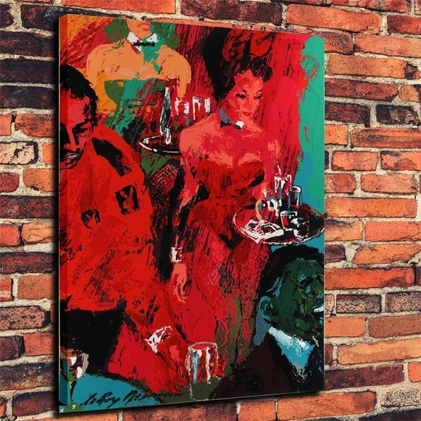 LeRoy Neiman Playboy ClubHome Decor HD Printed Modern Art Painting On Canvas Unframed