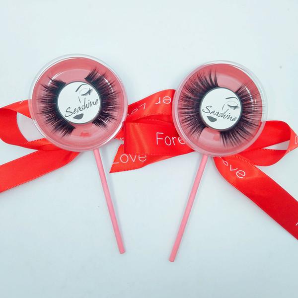10 Pairs/Lot Fashion Lollipop Women False eyelashes Full Strip make eyelash more have stereo feeling lightsome 3D Mink roll become warped