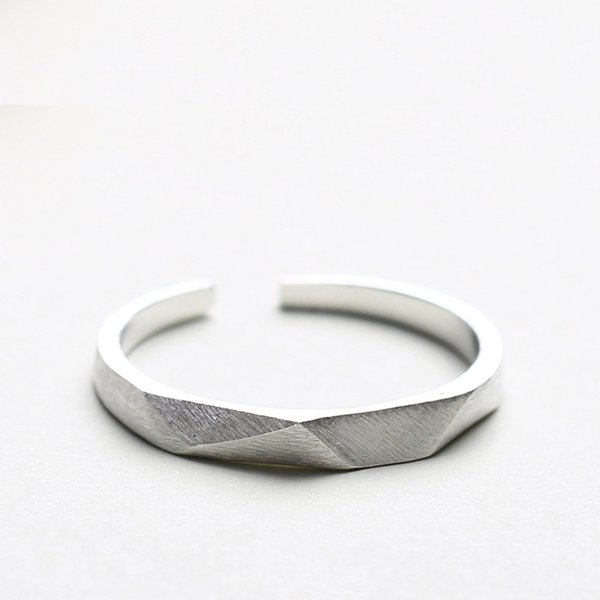Original adjustable charm Jewelry fashion sterling silver 925 ring four sides love the gift of men and women rings china direct wholesale
