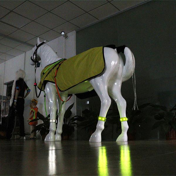 Jambières LED équestres Nuit Cheval visible Course Equestre Cheval En Plein Air Paardensport Équitation Multi-couleur En Option 1pcs F