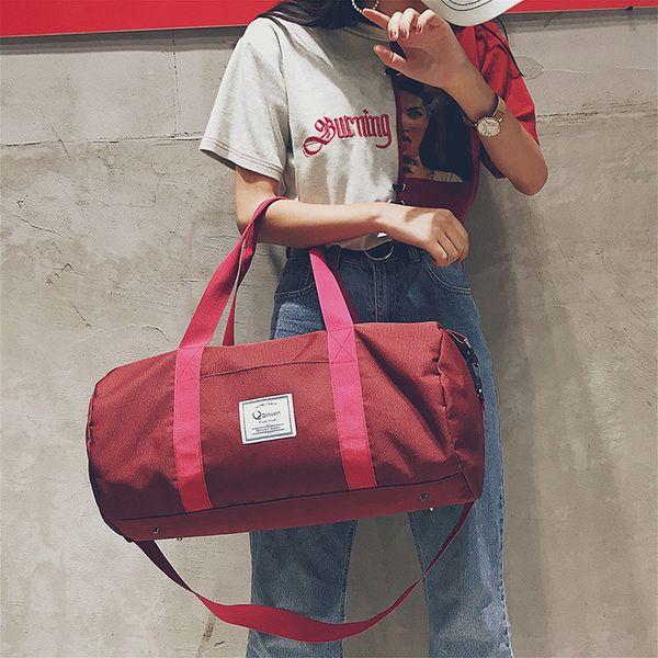 Мужчины и женщины спорт тренажерный зал сумки 5 цветов водонепроницаемый Оксфорд дизайнер мода сумки сплошной цвет открытый сумки