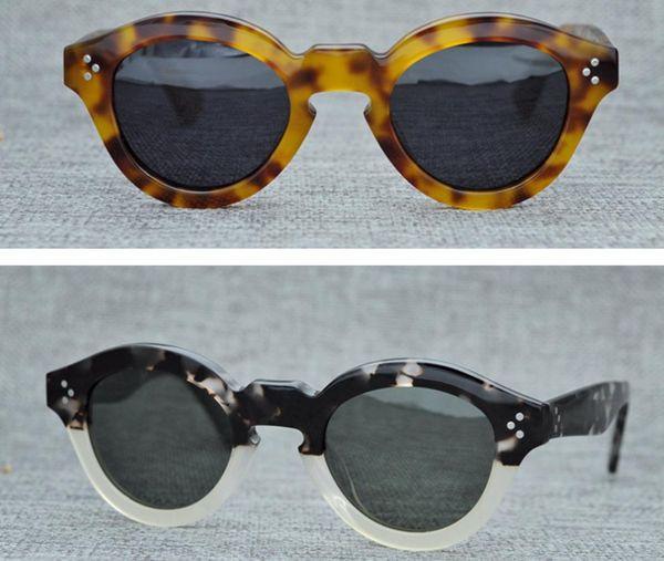 Brand Desiger Sunglasses Men Vintage Punk Round Sunglasses Women Retro Sun Glasses Plank Frame Steampunk Sunglasses with Original Box