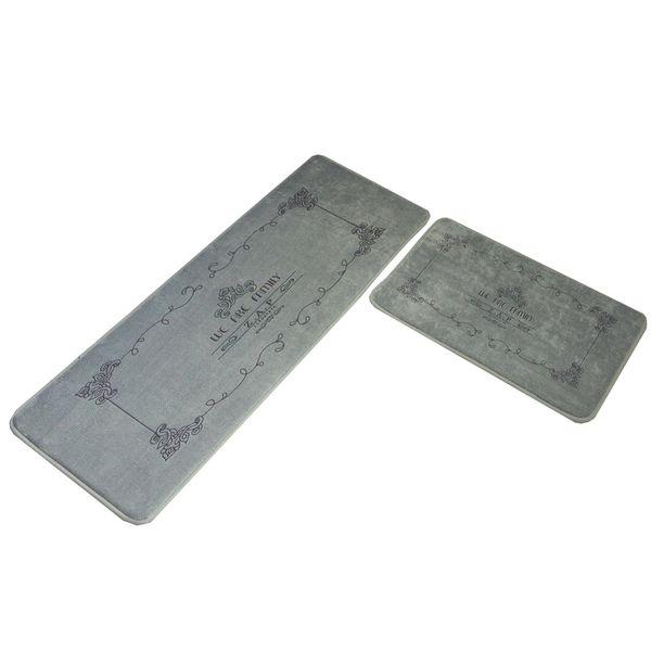 2pcs/set Kitchen Long Mats Area Rugs Non-slip Absorbent Bathroom Floor Mat Entrance Doormat Bedroom Soft Bedside Footcloth