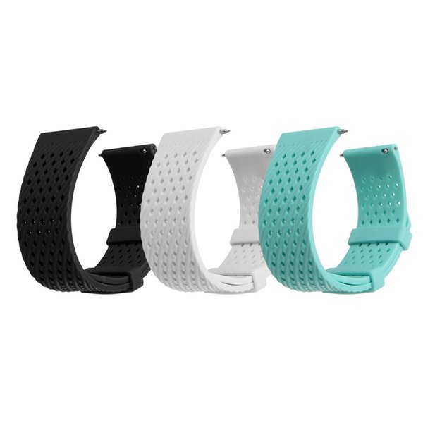 22mm Adjustable Replacement Watchband Soft Silicone Breathable Wrist Strap Sport Bracelet For Fitbit Versa Fitness SmartWatch