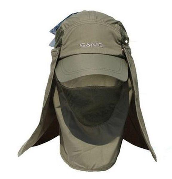 Santo Outdoor 360 Degree Uv Protection Sun Hat Folding Visor Mosquito Cap Hiking Jungle Hats Mountain Bike Camping Sun Cap