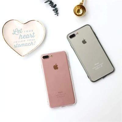 Simple tyle clear back ca e for iphone7 plu fa hion protective back cover for iphone6 6 plu 4 7 5 5inch
