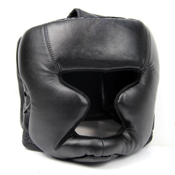 Promotion Black Good Headgear Head Guard Training Helmet Kick Boxing Protection Gear Sport Fitness Supplies Good Quality