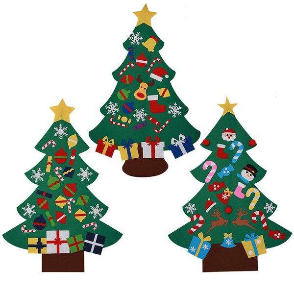 1PCS DIY Christmas Tree Christmas Tree Wall Hanging New Year Christmas Decorations For Home Lovely Door Ornaments Children Gifts