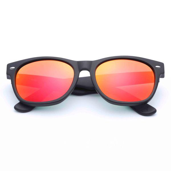 Noir mat - Orange