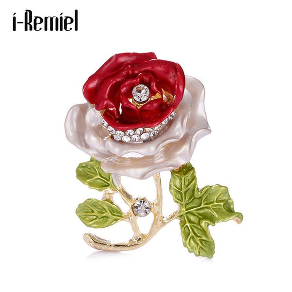 i-Remiel Crystal Rhinestone Brooch Pin Broches Broche Pins And Brooches Mens Clothing & Accessories Cheap Safety Pin For woman