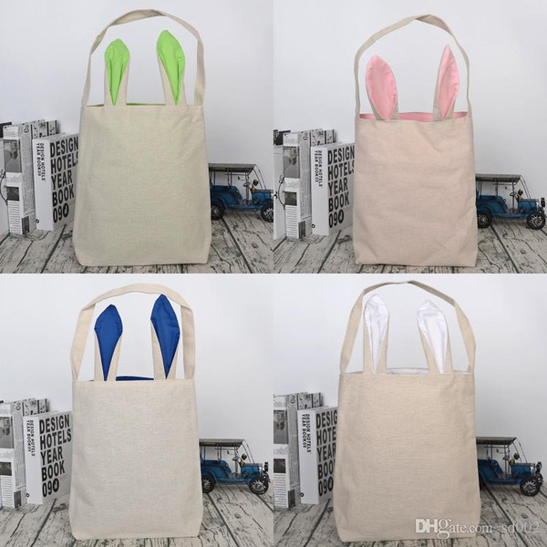 Rabbit Ears Canvas Handbag Practical Portable Cute Easter Theme Gift Storage Bag Party Supplies For Kids Use Many Colors 8yb2 ZZ