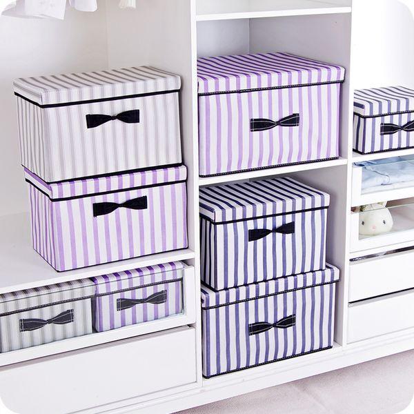 New 3 sizes folding clothes storage box clothes organizer kid toys storage bin Laundry Cupboard box desktop organizers