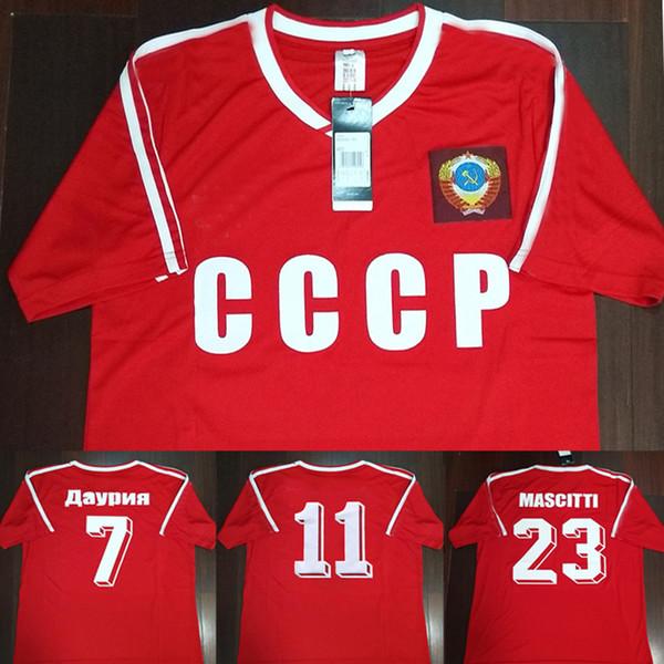 1c34896bc12 86 87 Retro USSR Home Red Shirt CCCP Soviet Union Igor Belanov Soccer Jersey  1986 1987