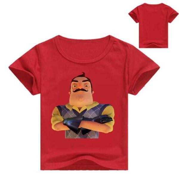 Hello Neighbor Boys T-Shirt Kids Basic T Shirts Cartoon Top Tees Children Sport Clothing Baby Boy Shirts for 2-12 Years