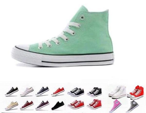 DORP Versand 2018 alle Größe 35-45 Unisex Männer Frauen Low High Style Canvas Schuhe Clasic Casual Sneakers für Frauen, Board Schuhe