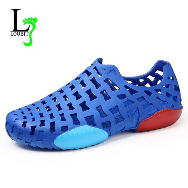 2018 Fashion Summer Men Sandals Shoes Hollow Breathable Ultra Light Non-Slip Men Shoes Casual Sandals Flat