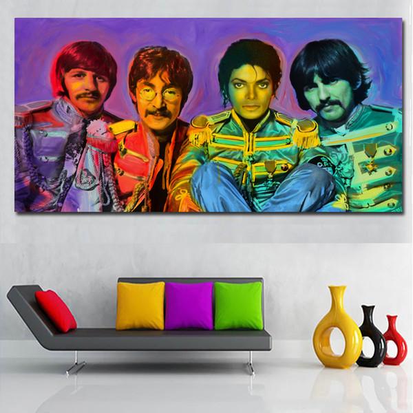 1 Panel Ünlü Yıldız Müzik Grubu Resim Şarkıcı Boyama Tuval Baskı Duvar Posteri Ev Dekorasyon Baskı Canva Yok Çerçeve Üzerinde