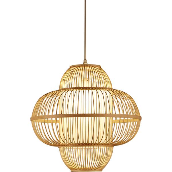 Bamboo Lantern Pendant Lamps Handmade Weaving Hanging Lamp Home Lighting Restaurant Simple Antique Hotel home Lighting G066
