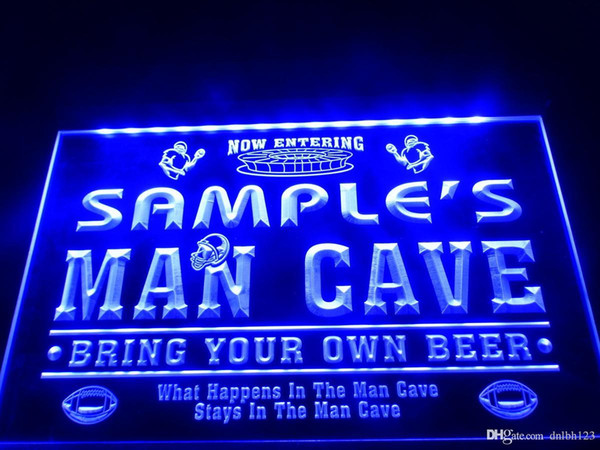 DZ031b- Name Personalized Custom Man Cave Football Bar Beer LED Neon Beer Sign