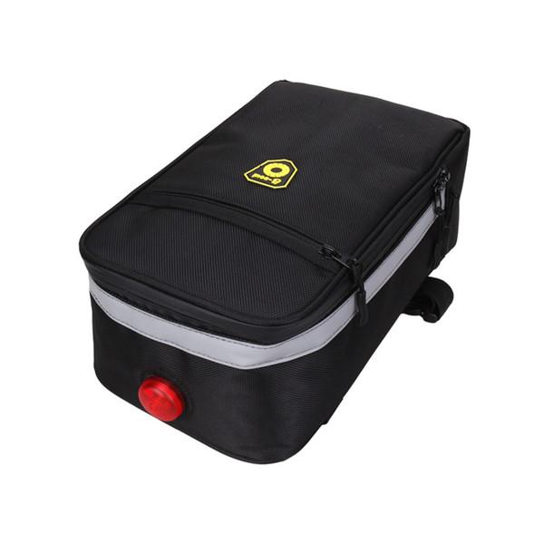 B-SOUL Electric Bike Lithium Battery Bag, Bicycle Fram Storage Bag, MTB Road Bike Folding E-Bike Rear Sear Pack, Cycling Part