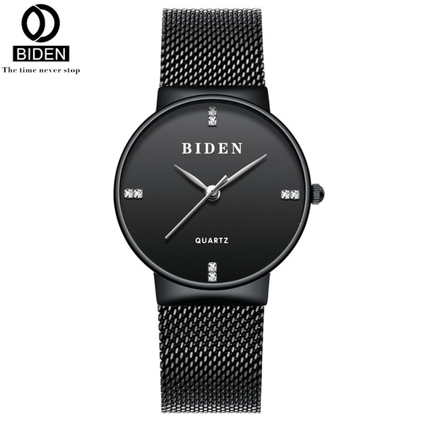 BIDEN Women Watches Mesh Stainless Steel Bracelet Watch Fashion Japanese Quartz Wristwatches Montre Femme 0047