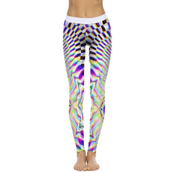 4cd3daf65b962d Pantalones Deportivos Para Mujer Digital printed yoga leggings White vetement  sport femme