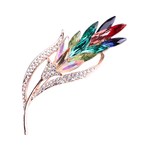Multi-color Crystal Flower Brooches Rhinestone Brooch Pin Fashion Jewelry Coat Dress Corsage Bijouterie Broches Gift