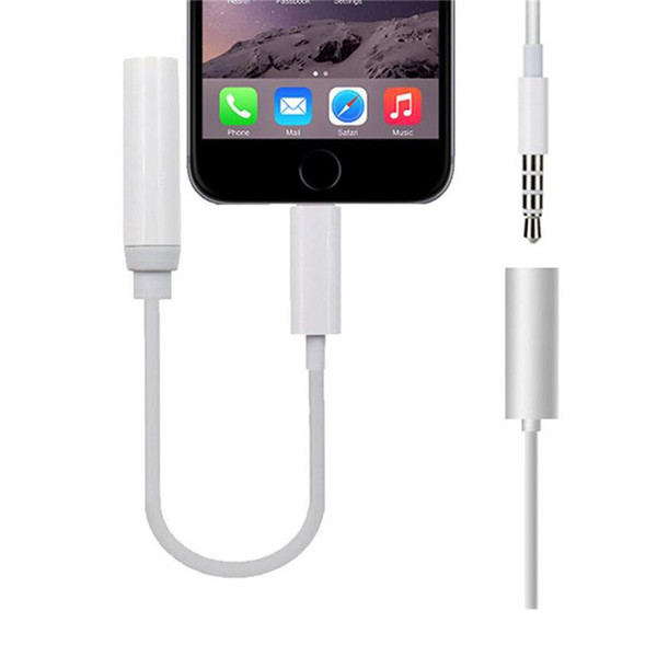 High quality Earphone Headphone Jack Converter Cable Lighting to 3.5mm Audio Aux Connector Adapter Cord for iPhone7 plus