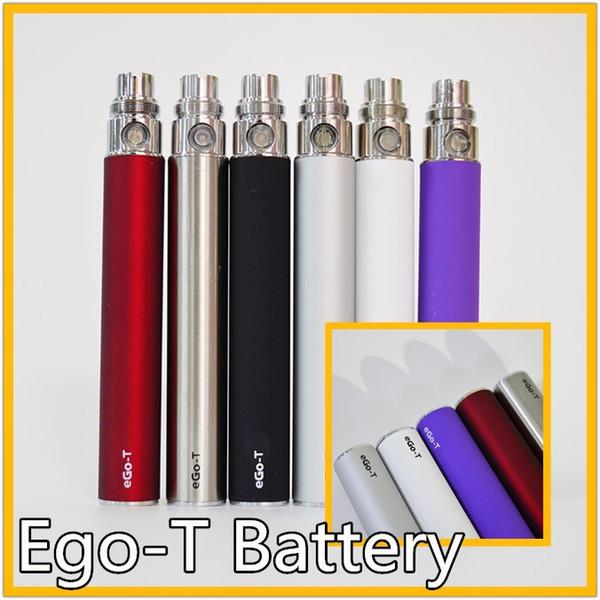 EGO t Batteria 510 batterie Vape Batteria 650mah 900mah 1100mah E-cig Ego T sigaretta elettronica 510 Thread per 92A3 CE4 Serbatoio Vape Pen