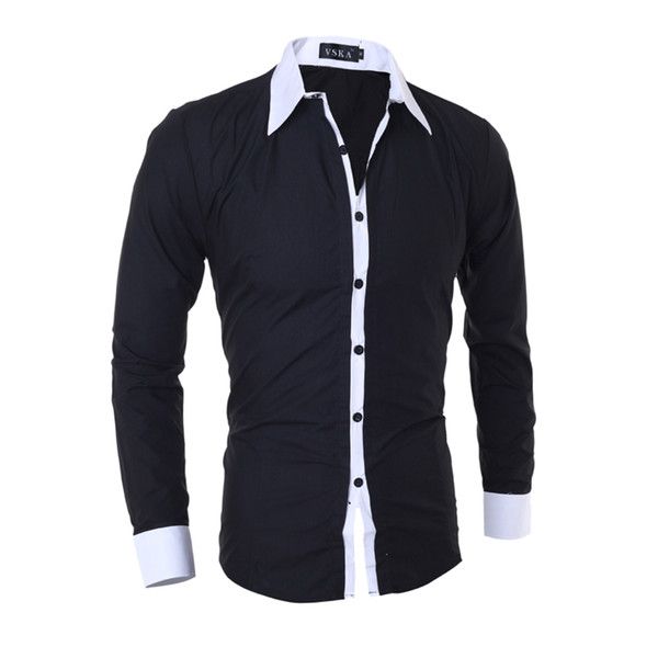 best selling MarKyi casual shirts 2020 new brand striped patched long sleeve mens dress shirts plus size 2xl