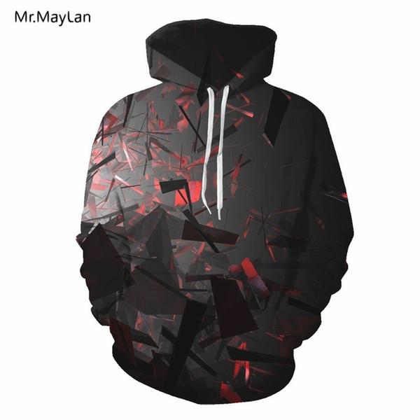 2018 Autumn Hipster 3D HD Digital Print Jacket Hoodies Men/Women Hiphop Pullover Pockets Hood Sweatshirts Boys Tracksuit Outwear