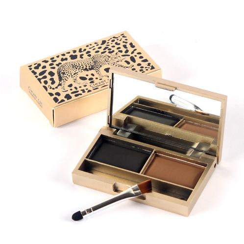 Eye Brow Makeup 2 Color Waterproof Eyebrow Powder Eye Shadow Eyebrow with Brush Make Up Palette Set Kit Free Shipping