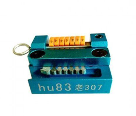 Newest Hu83 For old 307 locksmith car key maker car key tool machine + code software to do the whole lost key by hand Free ship
