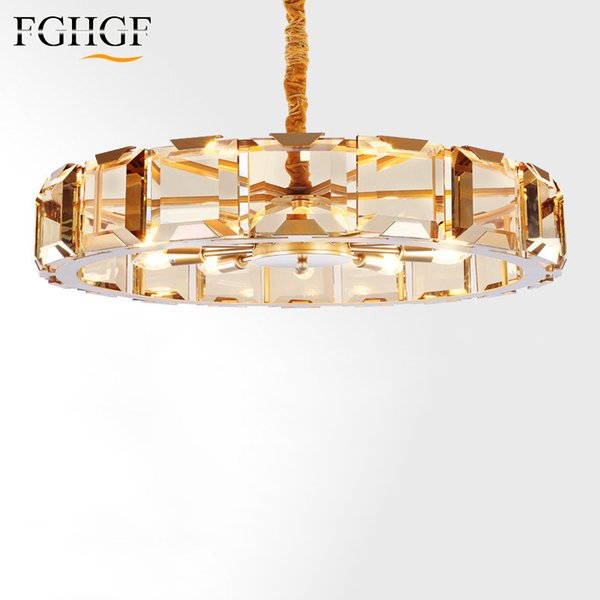 New Chandelier Lighting French Empire Golden Crystal Chandeliers Lustres Lamp Modern Dining Room Kitchen Light High Quality Gold Chandelier Earrings