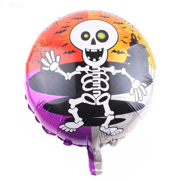 Nouveau Happy Halloween heureux Skeleton Phantom portrait impression aluminium gonflable feuille d'hélium Ballon pour la décoration de chambre d'enfants