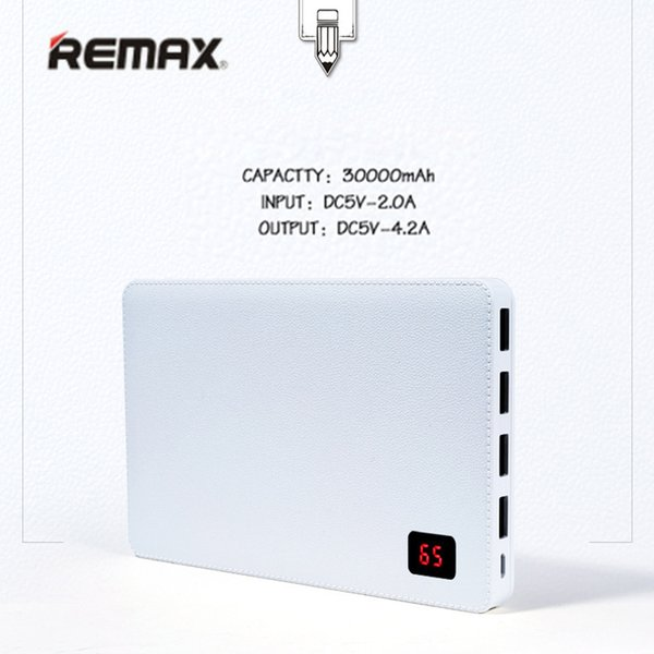 Remax 30000 mah Mobile Phone Portable Charger Power Bank 4 USB Output port External Battery for iphone 7 8 Pover bank Universal