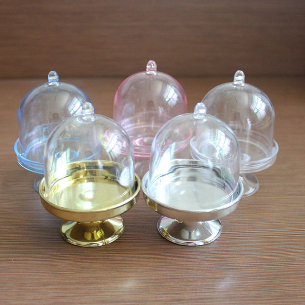FREIES VERSCHIFFEN Großhandel 200 STÜCKE Acryl Klar Mini Tortenständer Baby Shower Hochzeit Gefälligkeiten Halter Geburtstagsfeier Süße Tischdekor Liefert