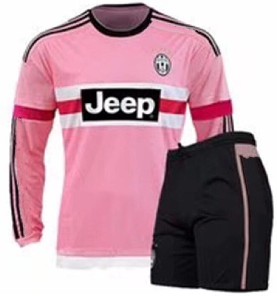 new arrival 5780d c7919 2019 2016 Long Sleeve Italy JUVENTUS Pink POGBA SOCCER JERSEYS Kit 15 16  DYBALA MANEZUKIC MORATA HIGUAIN MARCHISIO BUFFON Pink MEN FOOBALL SHIRT  From ...