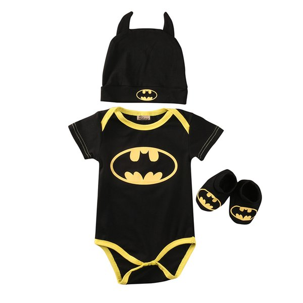 Baby Boys clothes Set Cool Newborn Infant Baby Boys Romper+Shoes+Hat 3pcs Outfits Set Clothes Kids Clothing Wholesale & Dropshipping