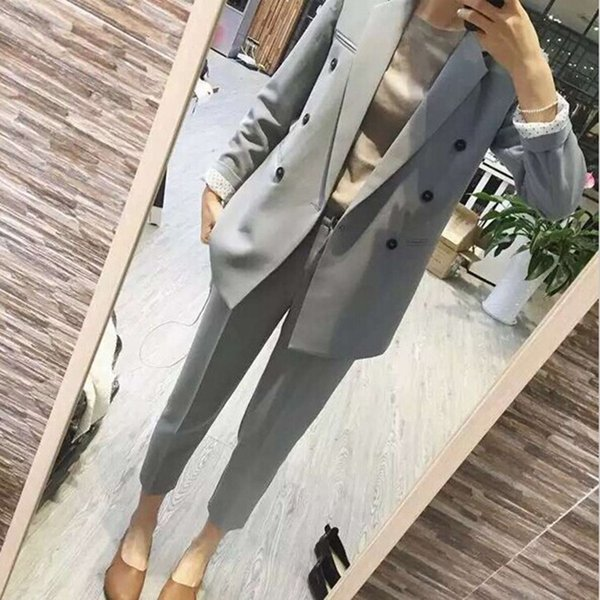 ant Suits Women Casual Office Business Suits Formal Work Wear Sets Uniform Styles ElePant Suits/Costumes for women