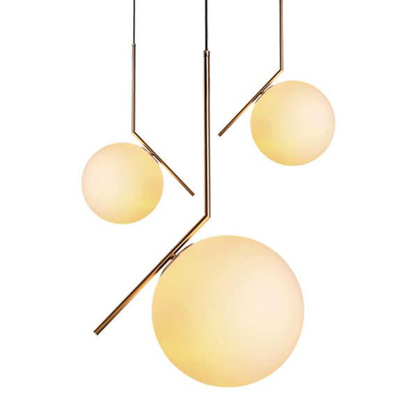 Nordic Style Pendant Lights Milky White Glassshade Modern Minimalist led Pendant Lamps for Dining Room Decoration LightingModern Pendant Cei