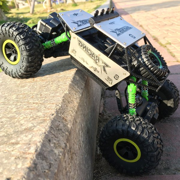 Remote-controlled automobile alloy off-road vehicle children boy toy car high speed big foot four-drive climbing remote control car toy