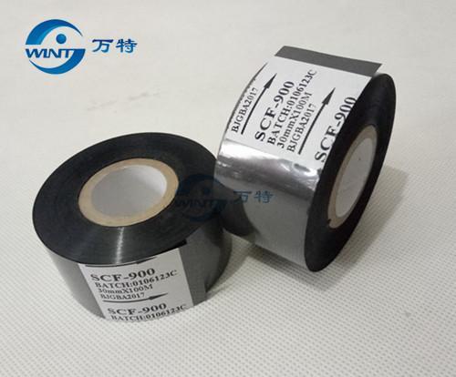 Freies Verschiffen durch Porzellanpfosten 30mm * 100m hohes qualtiy schwarzes Farbband für Datumsdruck auf Datumscodierer für EXP, MFG, heißes Stempeln