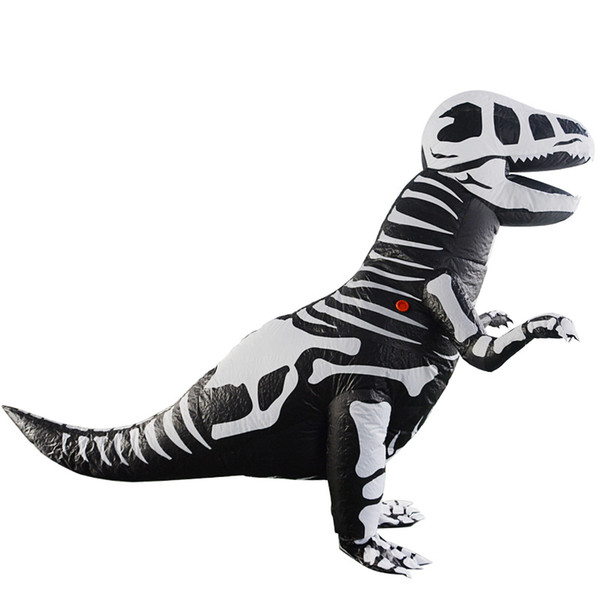 Black Dinosaur Inflatable Costumes T-rex Anime Cosplay Clothes Adult Halloween Christmas Party Event Animal Costume Dress party toys WSJ-24