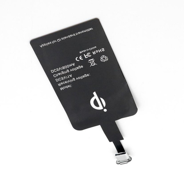 Ultra-thin Type-C Sticker QI Wireless Charging Charger Receiver Card Universal
