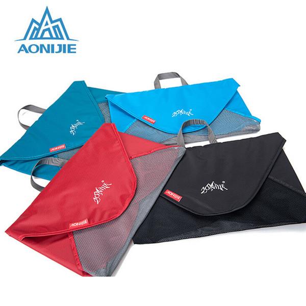 AONIJIE Ultralight Nylon Travel Folding Long Short T-Shirt Suits Storage Bag Men Women Flat Clothes 7 Shirts Capacity Suitcase